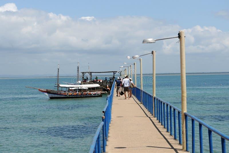 Pir från stranden av Barra Grande fotografering för bildbyråer
