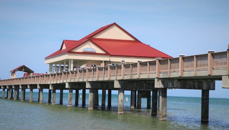 Pir 60 i den Clearwater stranden Florida royaltyfria bilder