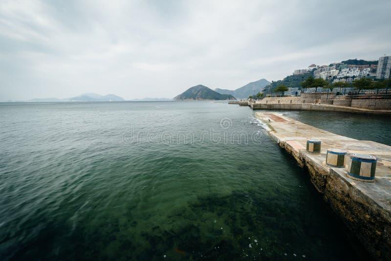 Pir på avvvisandefjärden, i Hong Kong, Hong Kong royaltyfri fotografi
