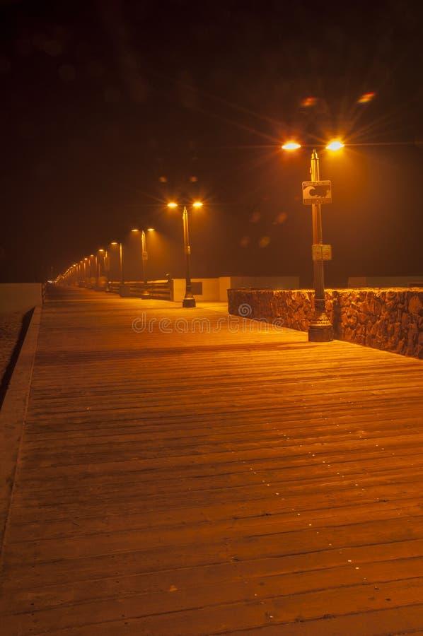 Pir på natten arkivbilder