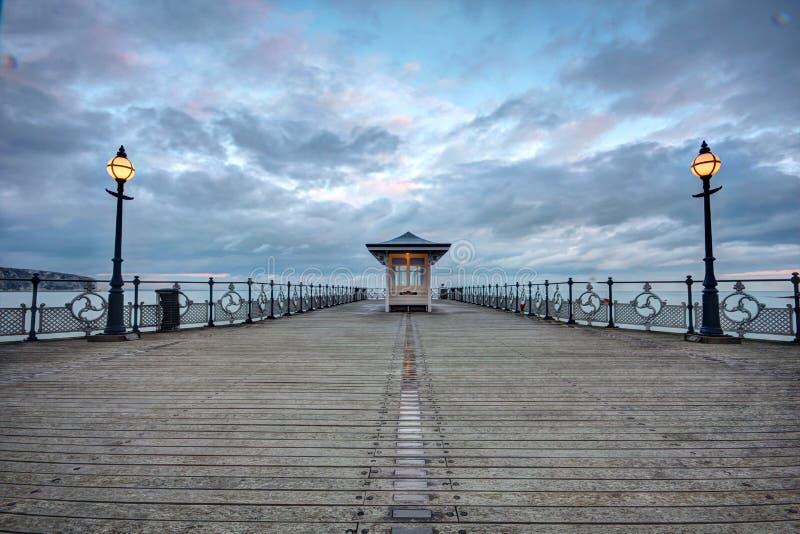 Pir på Swanage i Dorset arkivfoto