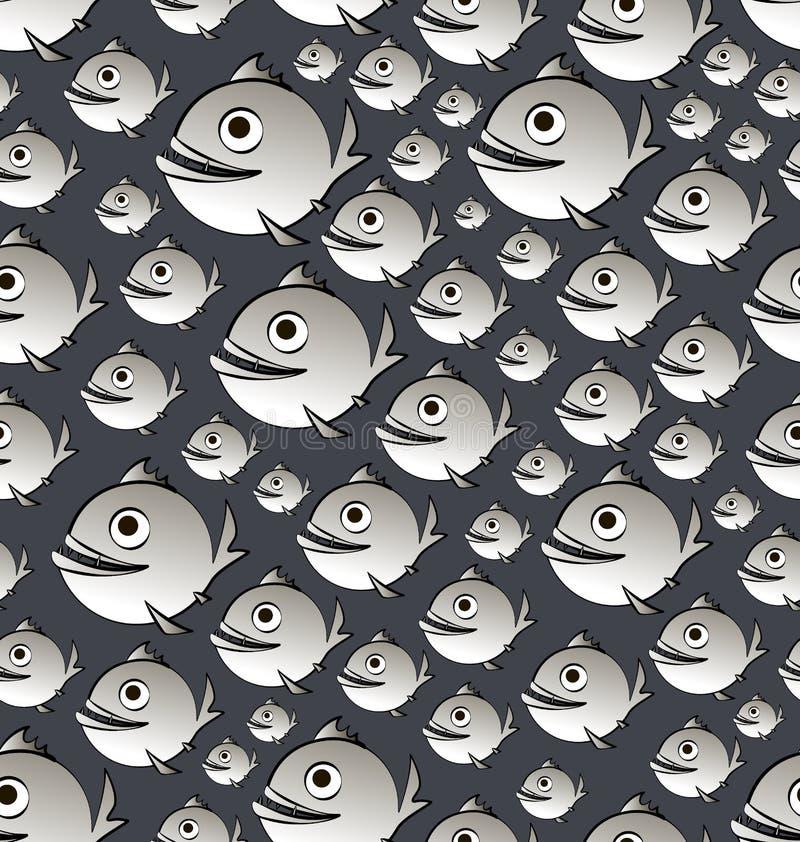 piraña Canillera de los pescados stock de ilustración