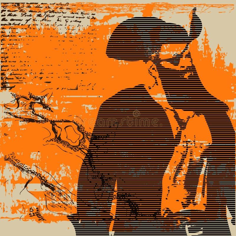 Piraat Cap'n vector illustratie