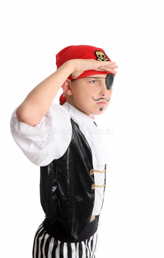 Piraat die uit kijkt stock fotografie