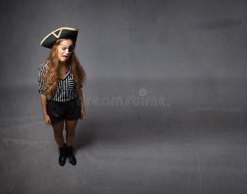 Piraat het schreeuwen stock foto