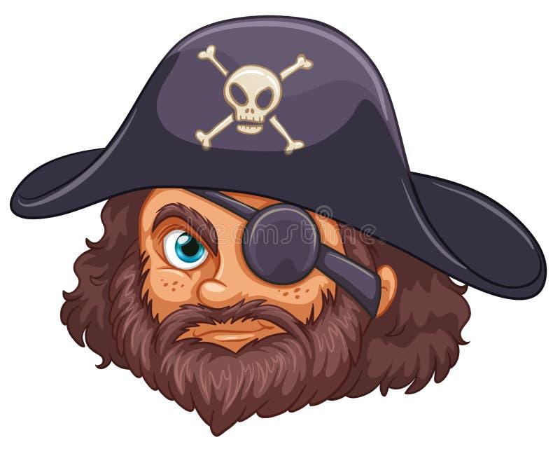 Piraathoofd vector illustratie