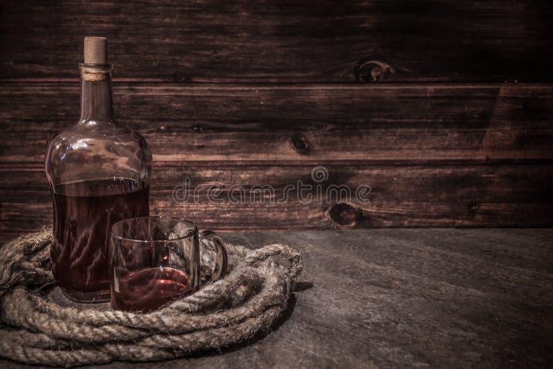 Piraatlijst, het binnenland van de kapiteinscabine stock foto's