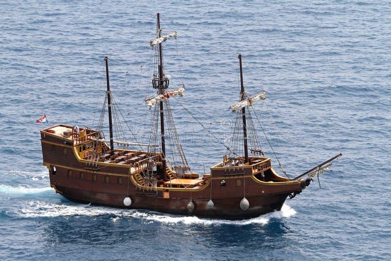 Piraatschip stock afbeelding