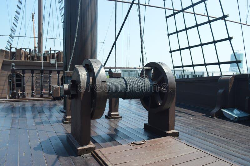 Piraatschip op vertoning stock fotografie