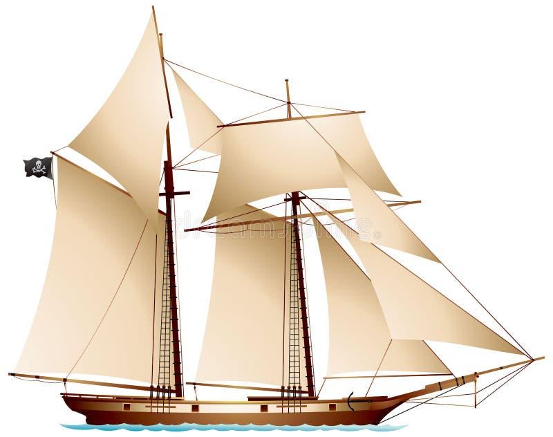 Piraatschoener royalty-vrije illustratie