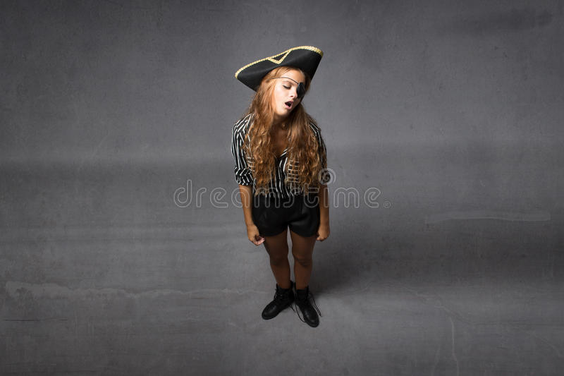 Piraatslaap met open mond stock foto's
