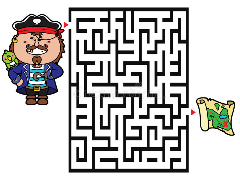 Piraatspel stock illustratie