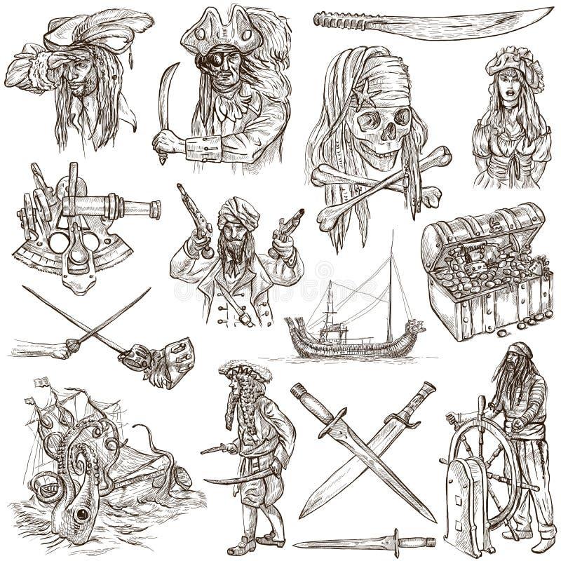 Piraci - biel ustawia żadny 4 ilustracji