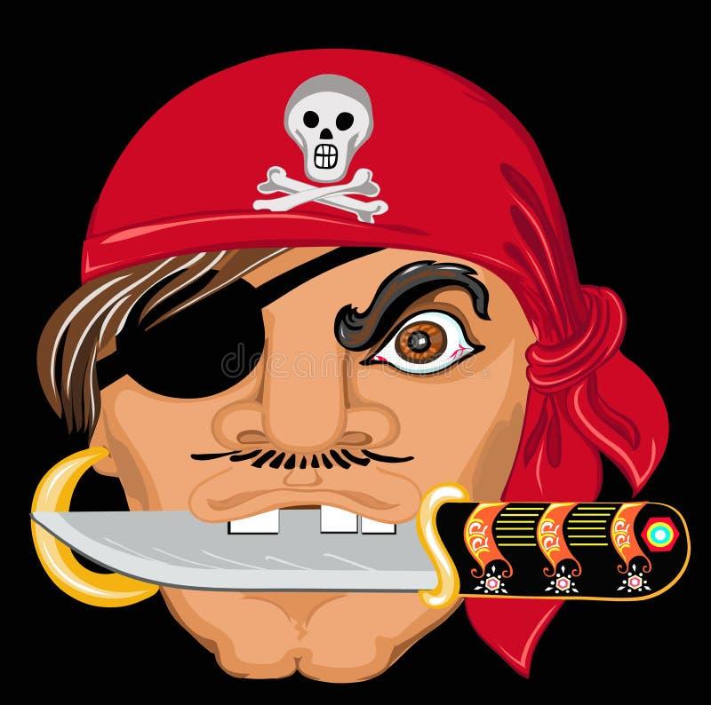 piraci włóczęgi morskie ilustracja wektor