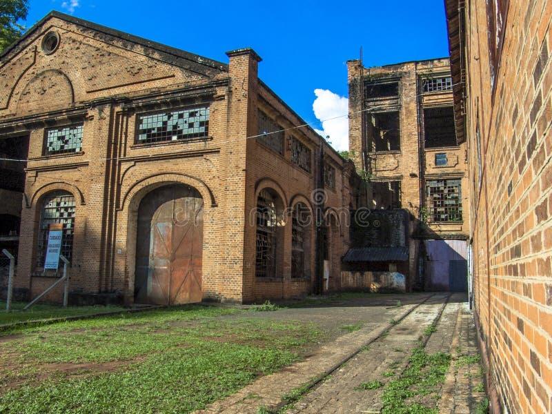 Piracicaba Central Sugar Mill. Piracicaba, SP, Brasil, 07/11/2007. Detalhe da fachada do Engenho Central ao lado do Rio de Piracicaba, em Piracicaba, SP. - FOTO royalty free stock photography