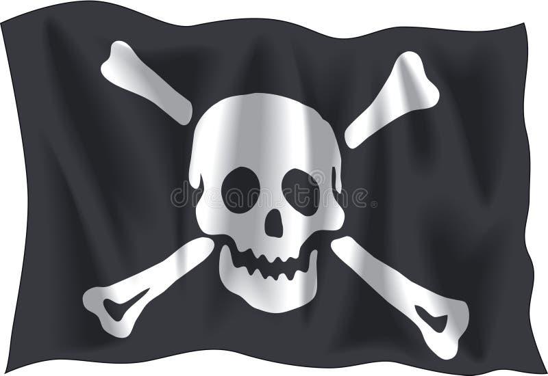 piracka flaga ilustracja wektor