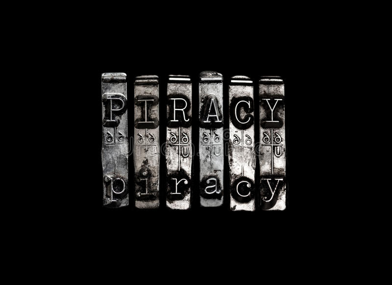 Piracy concept royalty free stock photography