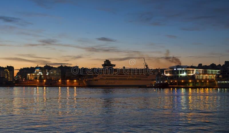 Piraeus port arkivfoto