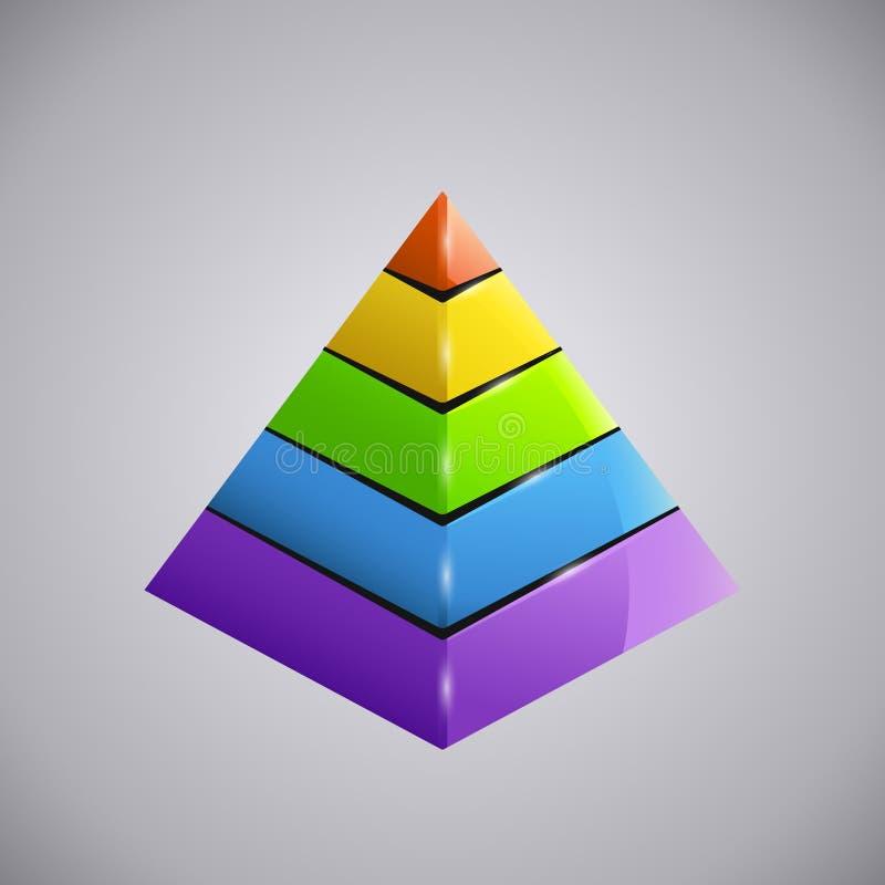 Piramid 3 del negocio ilustración del vector