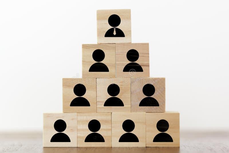 Piramida biznesowa Zasoby ludzkie, korporacje i koncepcja przywództwa zdjęcia stock