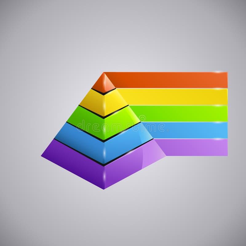Piramida 2 del negocio stock de ilustración