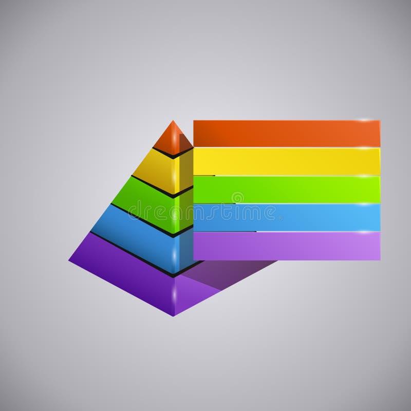 Piramida del negocio ilustración del vector