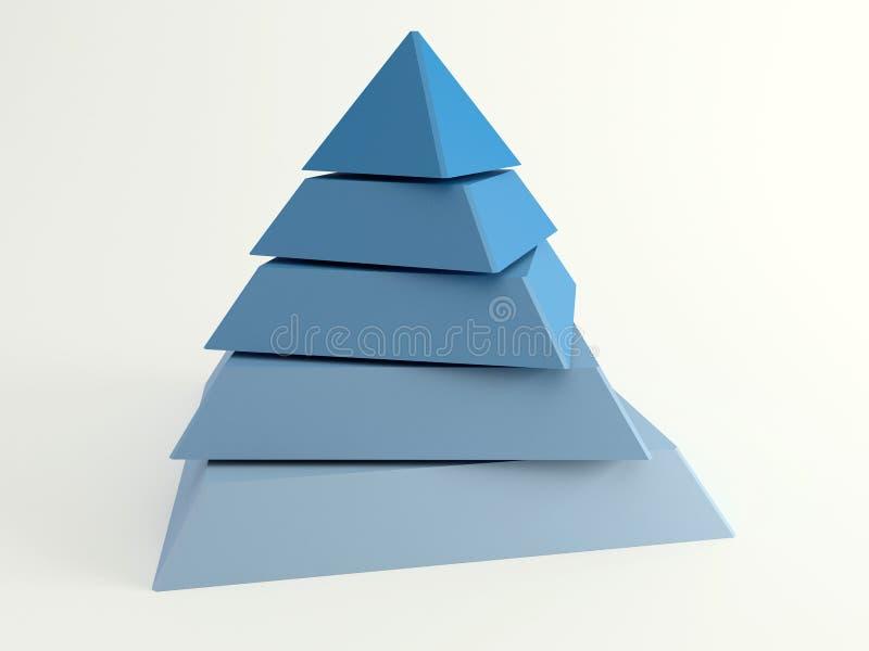 Piramide для PowerPoint или основных докладов Как раз положите ваш текст на его иллюстрация вектора