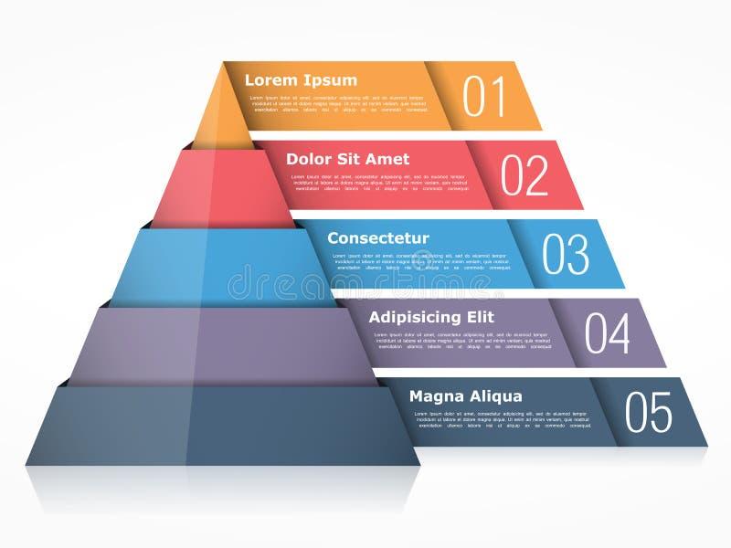 piramide illustrazione di stock