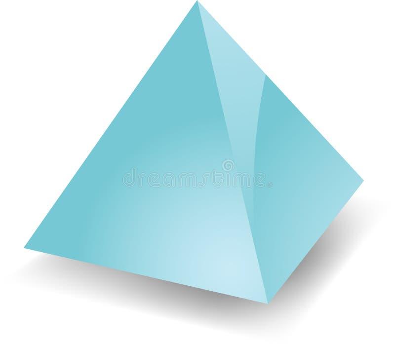 Piramide in bianco illustrazione di stock