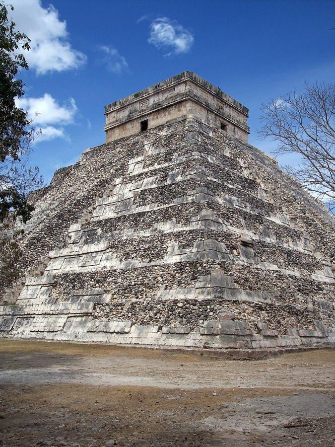 Piramide in chichen-Itza, Mexico stock afbeelding