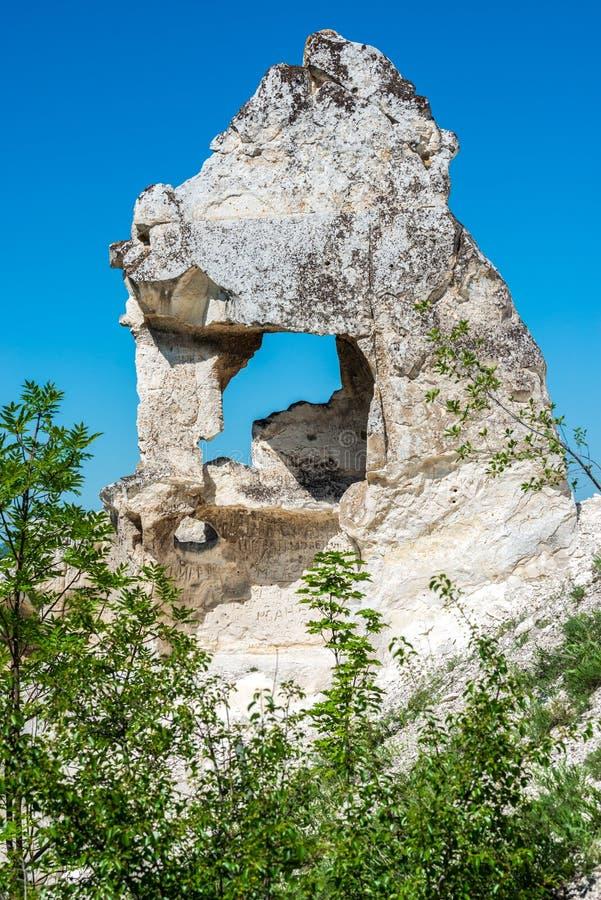 Piramide cretacea - sorpresa del ` s della natura, Kostomarovo fotografia stock libera da diritti