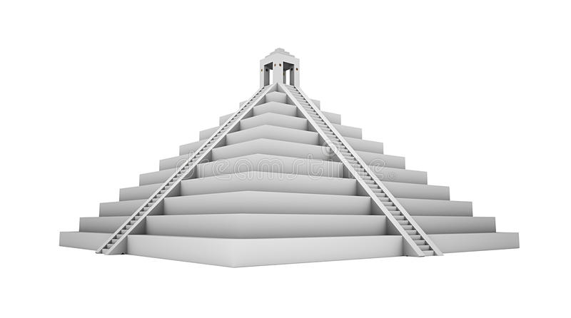 Piramide de Mayans ilustração do vetor