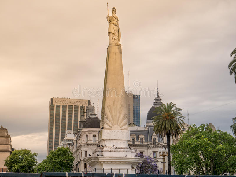 Piramide de Mayo, Buenos Aires, Argentina. The Piramide de Mayo May Pyramid, on Plaza de Mayo square is the oldest national monument in the City of Buenos Aires royalty free stock image
