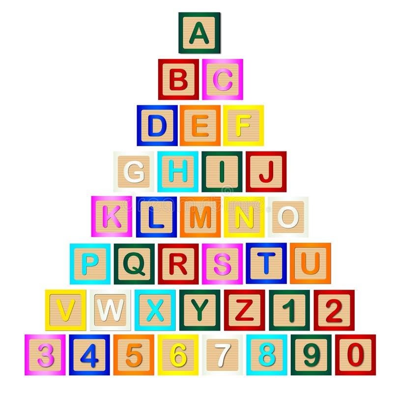 Piramide del carattere in grassetto illustrazione di stock