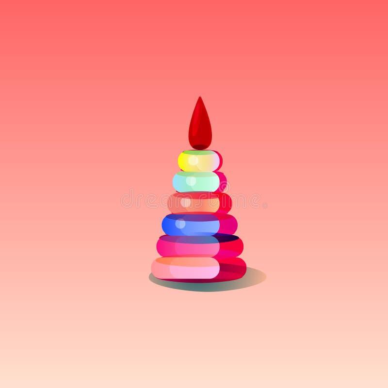 Piramide del giocattolo del ` s dei bambini fotografia stock