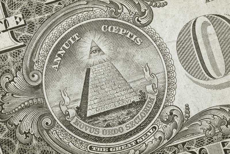 Piramide Del Particolare Del Dollaro Fotografia Stock Libera da Diritti