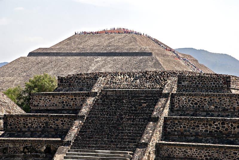 Piramide del Sun in Teotihuacan immagini stock