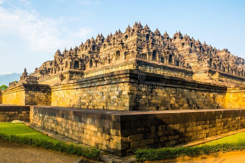 Piramide del tempio buddista Borobudur complesso, Yogyakarta, Jawa, Indonesia fotografia stock