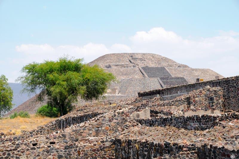 Piramide della luna. Città di Teotihuacan, Messico fotografia stock libera da diritti