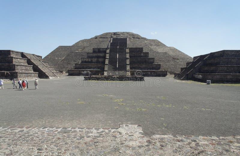 Piramide della luna di Teotihuacan fotografia stock