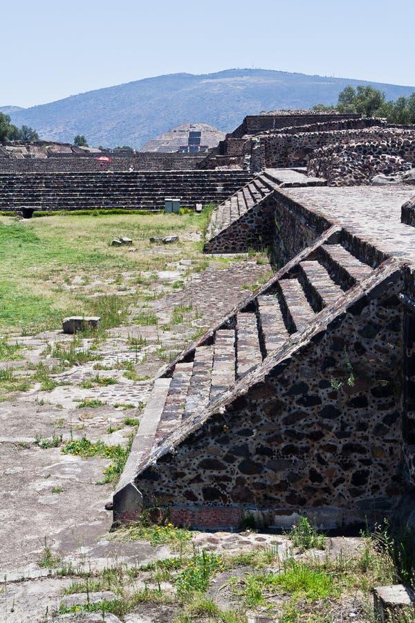 Piramide della luna Teotihuacan fotografia stock libera da diritti