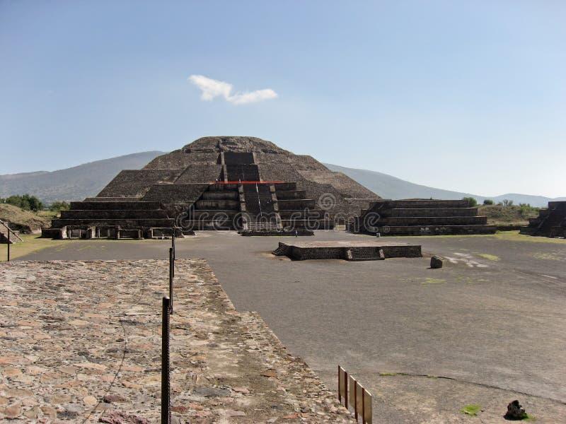 Piramide della luna Teotihuacan fotografie stock libere da diritti