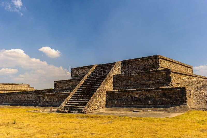 Piramide della luna, Teotihuacan, Messico fotografia stock