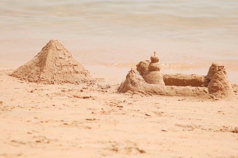 Piramide della sabbia fotografie stock libere da diritti