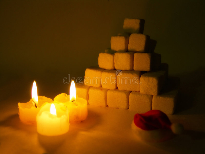 Piramide dello zucchero immagini stock libere da diritti