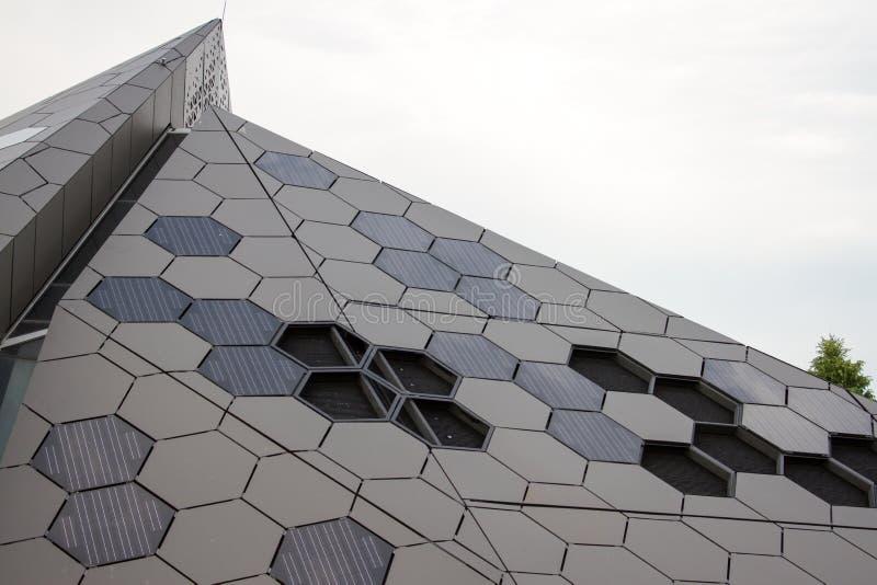 Piramide Denver Botanical di scienza fotografia stock libera da diritti