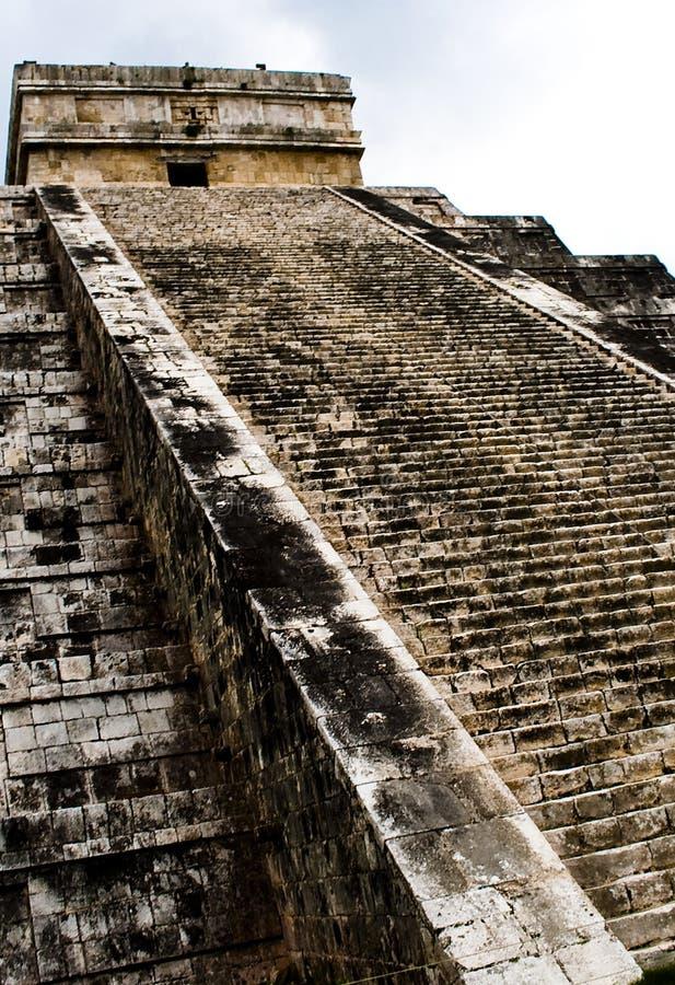 Piramide di Chichen Itza, Messico immagini stock libere da diritti