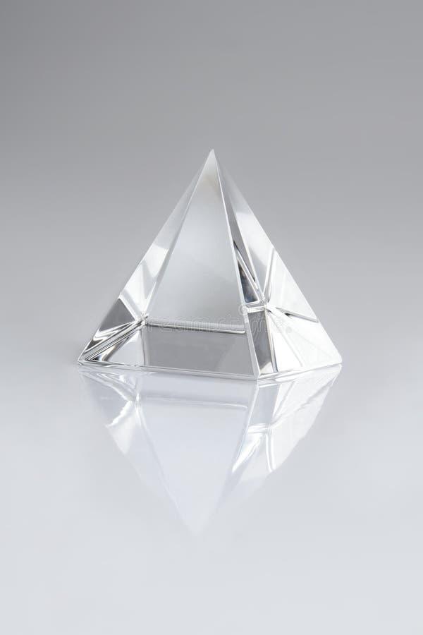 Piramide di cristallo fotografie stock