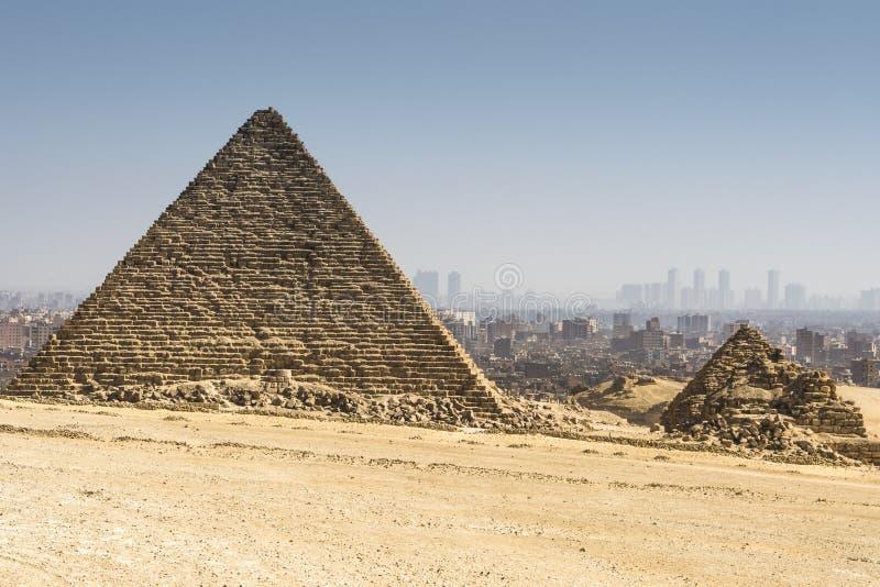 Piramide di Menkaure, Giza, Egitto immagine stock