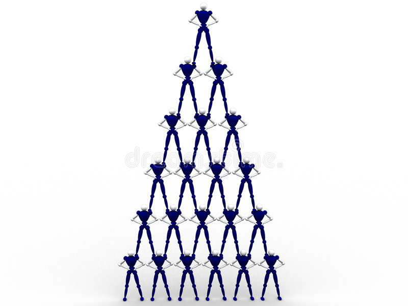 Piramide di Peolple illustrazione di stock